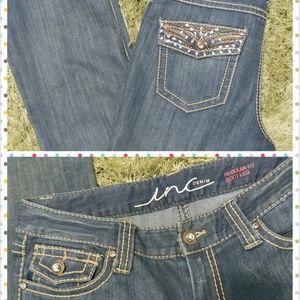 INC regular/bootcut jeans w/details